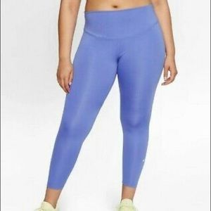 New Nike One Lilac Mid-Rise Crop Leggings size med